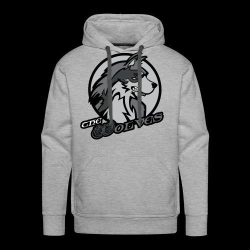 Wolves single sided printed mens hoodie - Men's Premium Hoodie