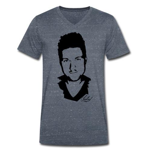 MF T-Shirt V - logo/schwarz - Männer Bio-T-Shirt mit V-Ausschnitt von Stanley & Stella