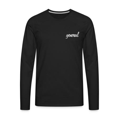Black Long-sleeve  - Men's Premium Longsleeve Shirt
