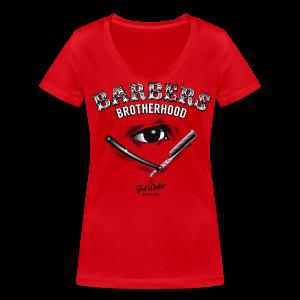 Barbers Brotherhood - T-shirt bio col V Stanley & Stella Femme