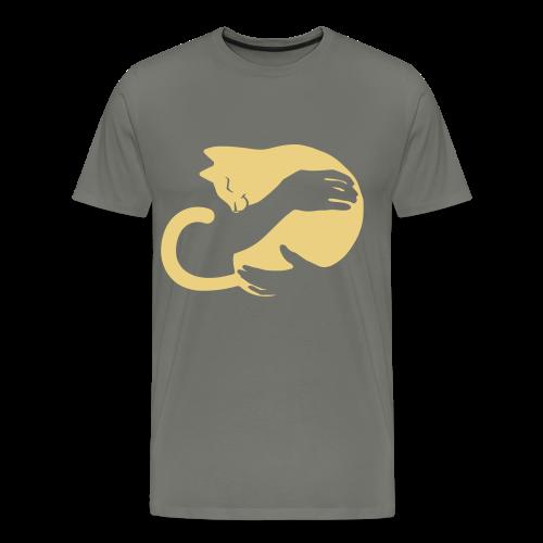 Katzen Umarmung - Männer Premium T-Shirt