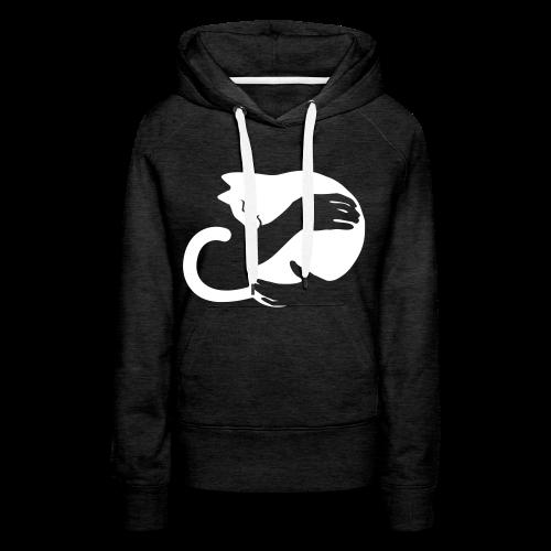 Katzen Umarmung - Frauen Premium Hoodie
