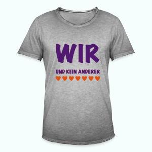 WIR  T-Shirts - Männer Vintage T-Shirt
