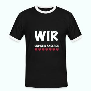 WIR  T-Shirts - Männer Kontrast-T-Shirt