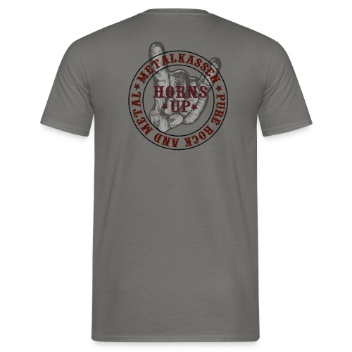 Metalkassenhornup - Herre-T-shirt