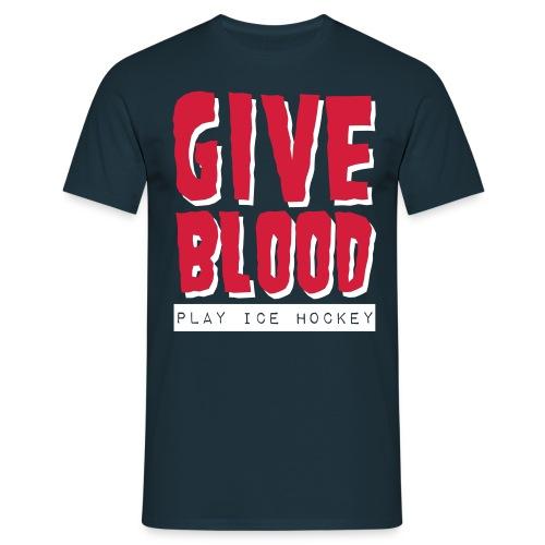 Give Blood Play Ice Hockey Men's T-Shirt - Men's T-Shirt