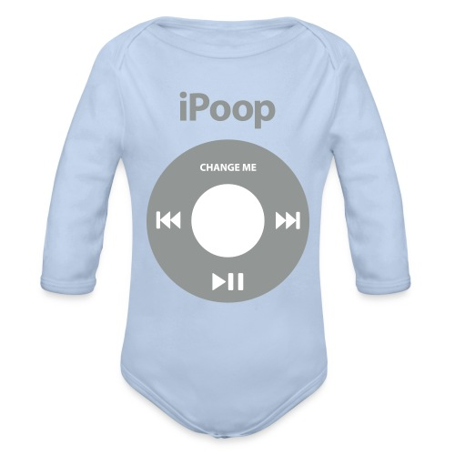 IPoop - Baby Bio-Langarm-Body