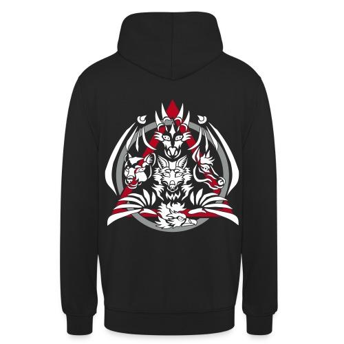hoodie unisex back black - Unisex Hoodie