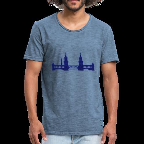 Oberbaumbrücke in Berlin 2 - Männer Vintage T-Shirt
