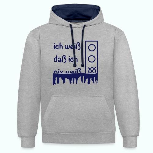 NIX   Pullover & Hoodies - Contrast Colour Hoodie