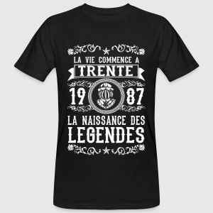 1987 - 30 ans - Légendes - 2017 Tee shirts - T-shirt bio Homme