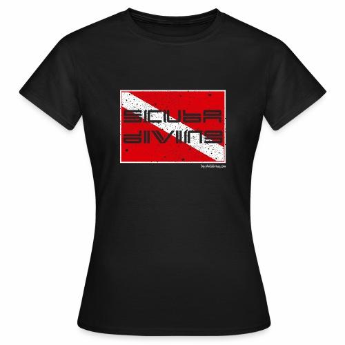 Scuba Flag (ladies T's) - Women's T-Shirt