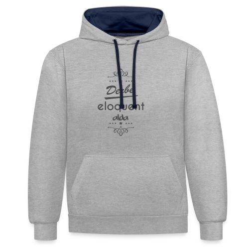Derbe Eloquent Alda Dark Grey - Contrast Colour Hoodie