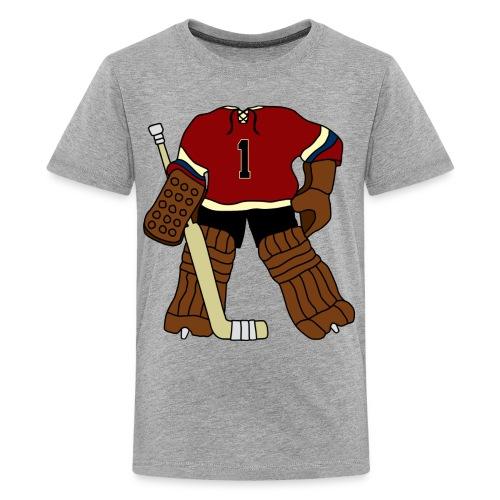 Vintage Ice Hockey Goalie Children's Premium T-Shirt - Teenage Premium T-Shirt