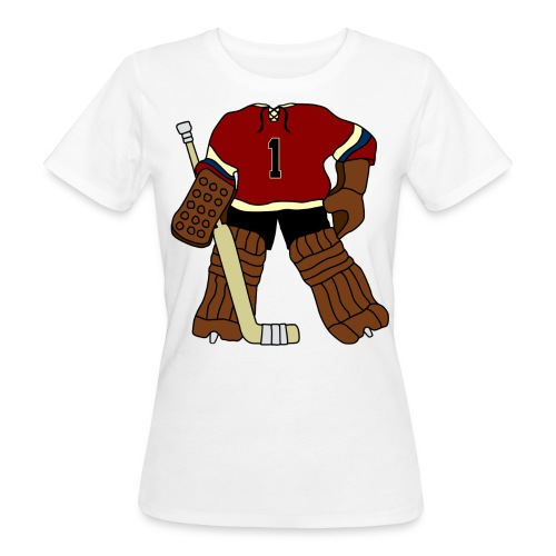 Vintage Ice Hockey Goalie Women's Organic T-Shirt - Women's Organic T-Shirt