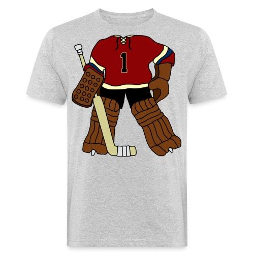 Vintage Ice Hockey Goalie Men's Organic T-Shirt - Men's Organic T-Shirt