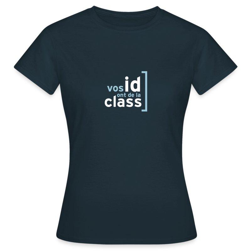 id et class sont sur un tee-shirt - T-shirt Femme