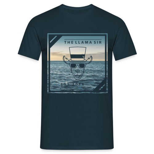 TheLlamaSir Men's Full Print T-shirt : navy - Men's T-Shirt