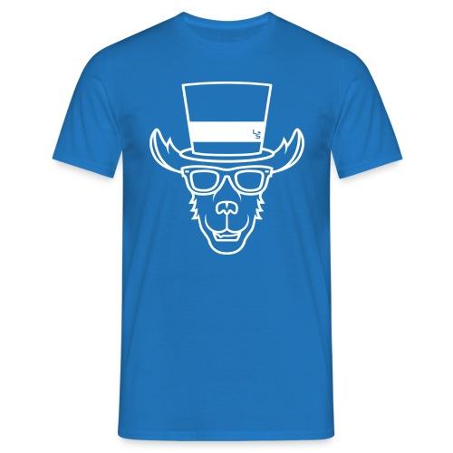 TheLlamaSir White Logo Men's T-shirt : royal blue - Men's T-Shirt