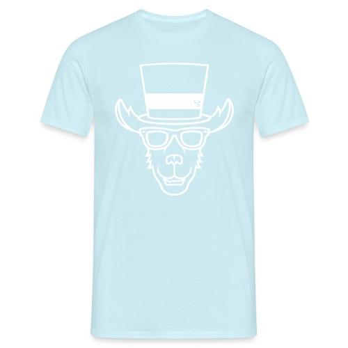 TheLlamaSir White Logo Men's T-shirt : sky - Men's T-Shirt