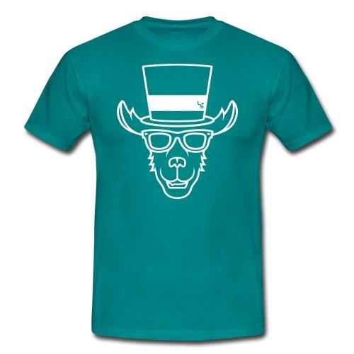 TheLlamaSir White Logo Men's T-shirt :  blue - Men's T-Shirt