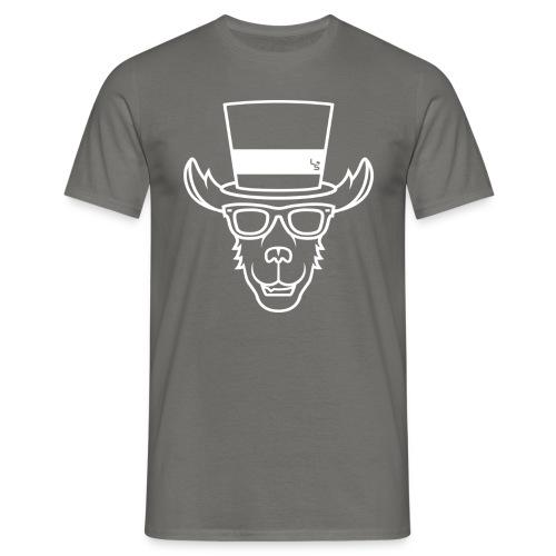 TheLlamaSir White Logo Men's T-shirt : graphite grey - Men's T-Shirt