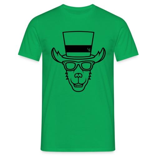 TheLlamaSir Black Logo Men's T-shirt : kelly green - Men's T-Shirt