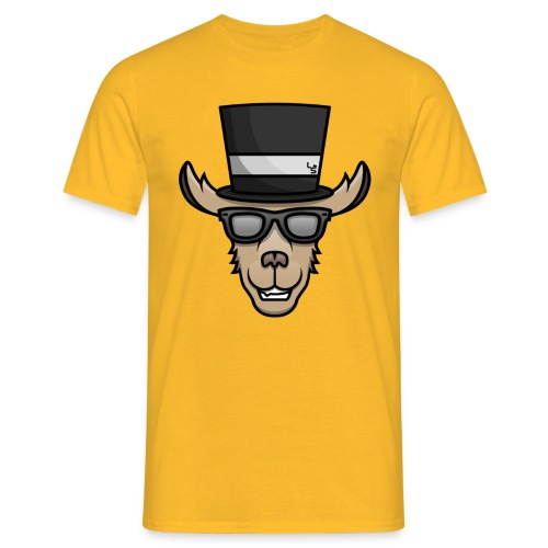TheLlamaSir Color Logo Men's T-shirt : yellow - Men's T-Shirt
