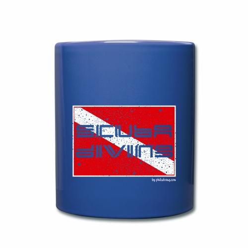 Scuba Flag (Coffee Mug, blue) - Full Colour Mug