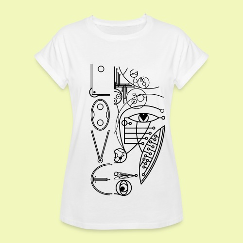 Face of Future Love - Frauen Oversize T-Shirt