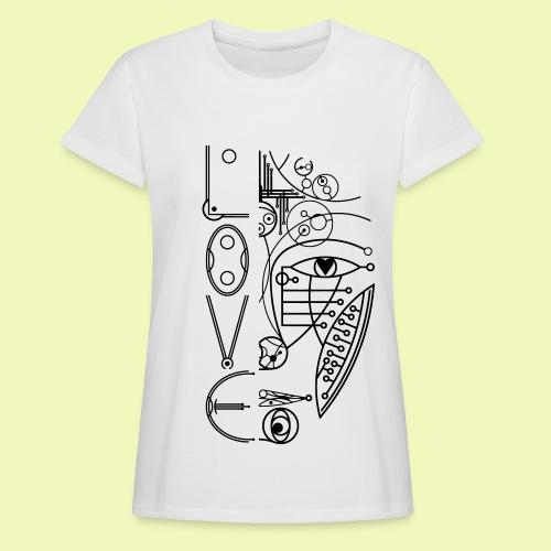 Face of Future Love - Frauen Oversize T-Shirt