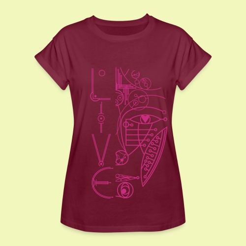 Face of Future Live - Frauen Oversize T-Shirt