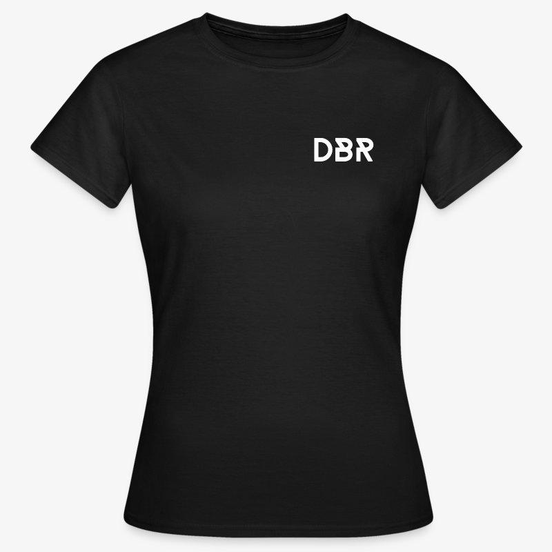 DBR Shirt - Rundhals-Ausschnitt - Damen - schwarz - Frauen T-Shirt
