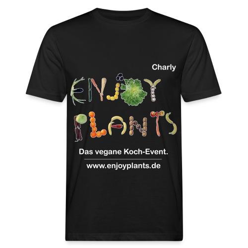Charly - Enjoy Plants - Männer Bio-T-Shirt