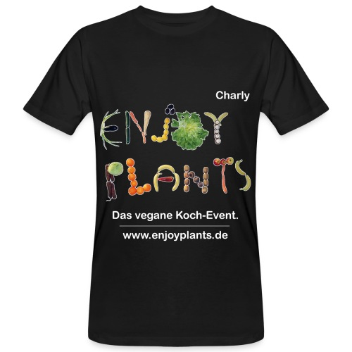 Charly - Enjoy Plants - Männer Bio-T-Shirt