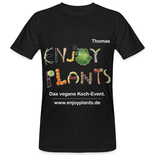 Thomas - Enjoy Plants - Männer Bio-T-Shirt