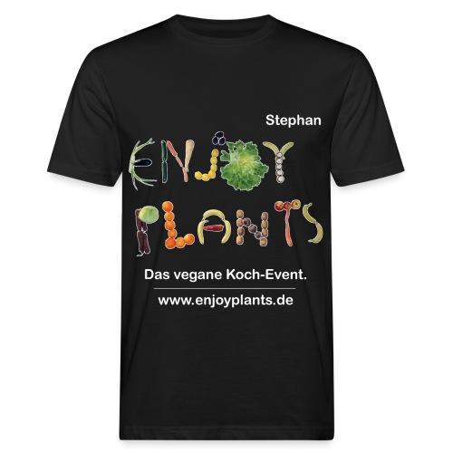 Stephan- Enjoy Plants - Männer Bio-T-Shirt
