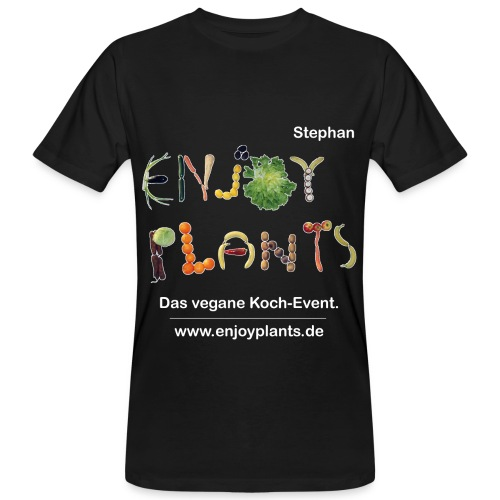 Stephan- Enjoy Plants - Männer Bio-T-Shirt