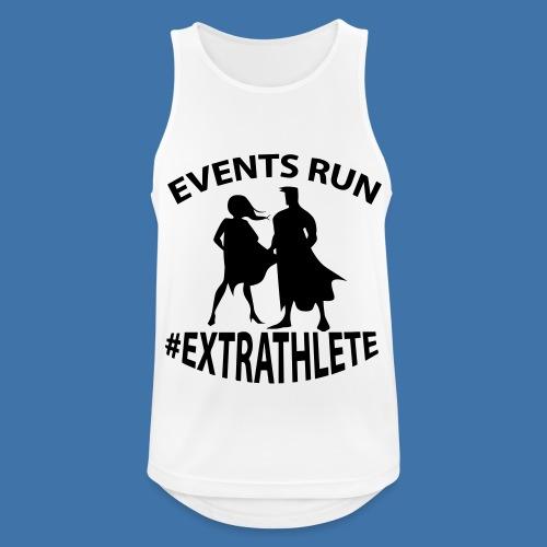 Débardeur Running Homme Events Run -  Blanc / Noir - Débardeur respirant Homme