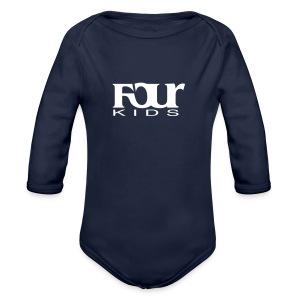 Four Kids // Babystrampler // Four Music - Baby Bio-Langarm-Body