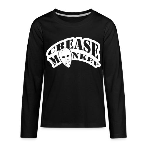 Crease Monkey Teenager's Long Sleeve T-Shirt - Teenagers' Premium Longsleeve Shirt
