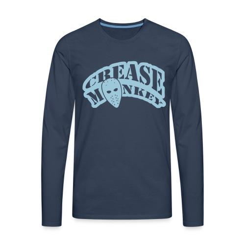 Crease Monkey Men's Long Sleeve T-Shirt - Men's Premium Longsleeve Shirt