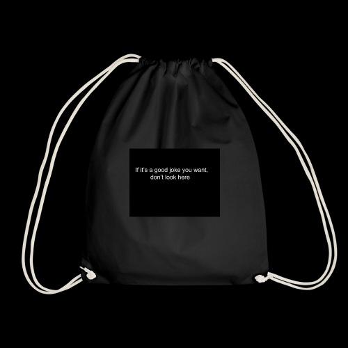 Drawstring Bad Joke Bag - Drawstring Bag
