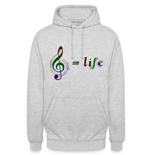 Music = life - Unisex Hoodie