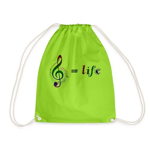 Music = life - Turnbeutel
