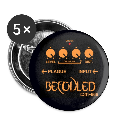 Befouled Button 32mm 5 Pack - Middels pin 32 mm