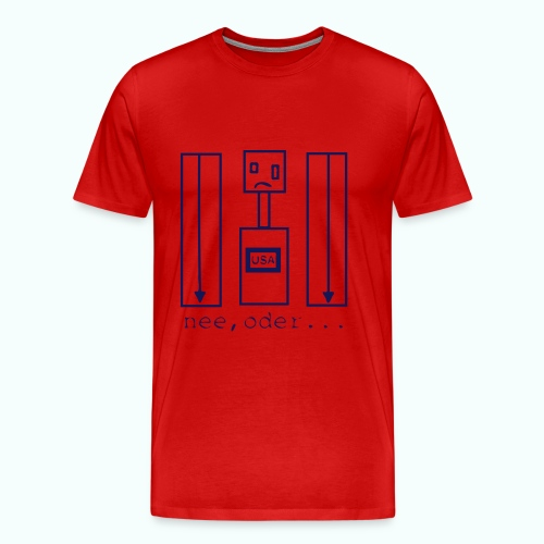 usa ... nee, oder  T-Shirts - Men's Premium T-Shirt