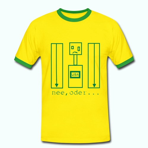 usa ... nee, oder  T-Shirts - Men's Ringer Shirt