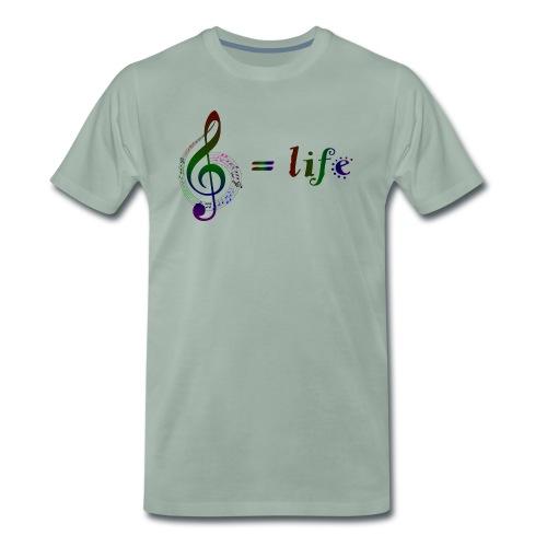 Music = life - Männer Premium T-Shirt