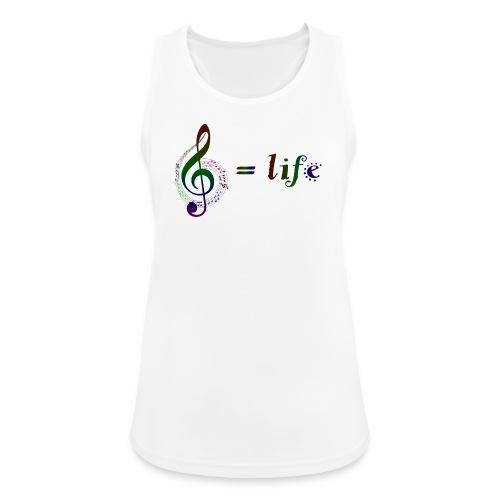Music = life - Frauen Tank Top atmungsaktiv
